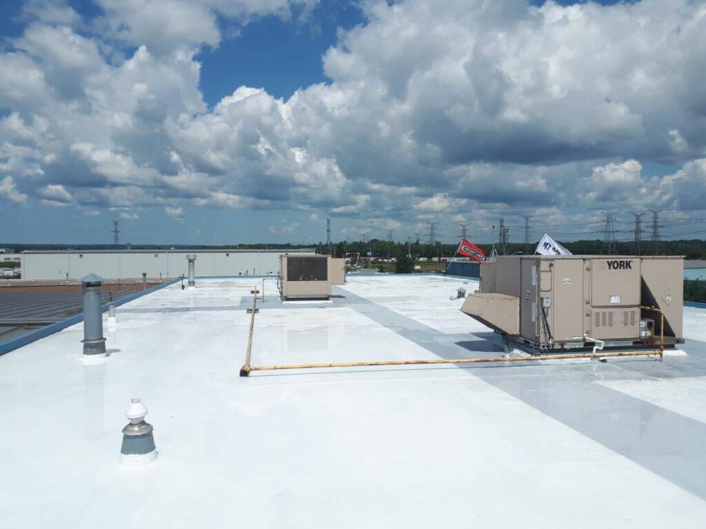 Polyurea Seamless Flat Roof Coating of build up