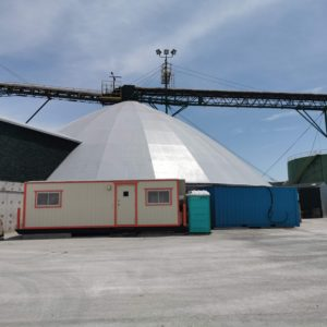 Polyurethane Roof System on Dome