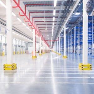Warehouse polyurea coating