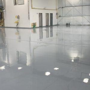 Polyurea Industrial Floor Coating Truck Repair Facility