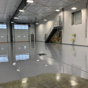 Polyurea Industrial Floor Coating at Truck Repair Facility