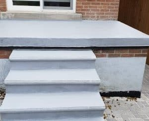 Polyurethane Waterproof Coating on Deck and Stairs