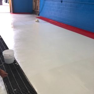 pplication of Chemically Resistant Epoxycoat VSF on Truck Wash Floor