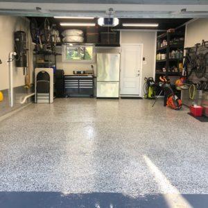 Epoxy Floor With Flake in Garage
