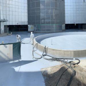 Polyurea Waterproofing Application over Parking Garage
