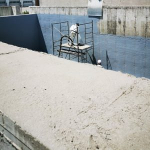 Polyurea Coating Being Applied to tank