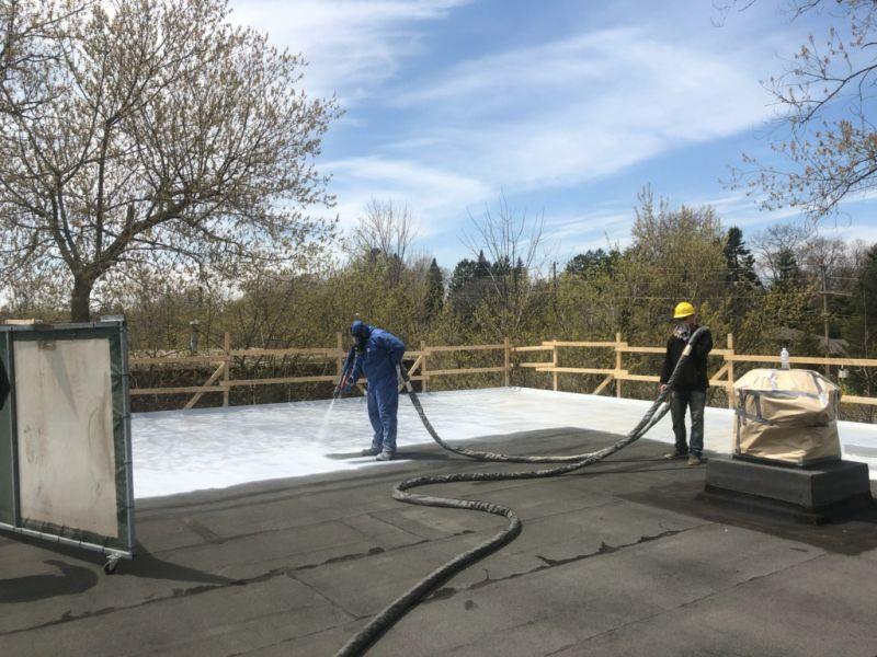 polyurea coating roofing system